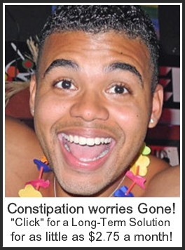 Why put up with constipation?  Get rid of it forever with an all natural solution for as little as $2.75 a month.