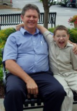 Paul at 275 pounds, with a young friend