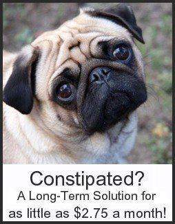 No more constipation!  A gentle, dependable, long-term solution for as little as $2.75 a month!