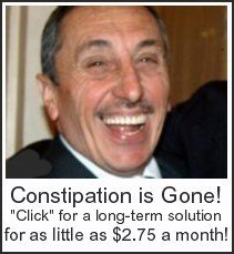 Constipation gone for good!  Here's a natural, long-term solution for as little as $2.75 a month.  Plus, it's good for you!